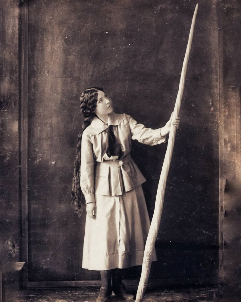 Ladygina with a tusk